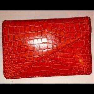 Bottega Veneta RED BV envelope clutch